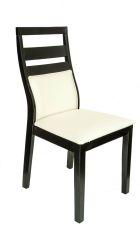 DHALIA Stuhl Schwarz mit Sitzfläche in Weiß