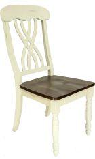 ELISABETH Sessel - Holz: Weiß/Braun