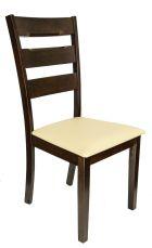 ERICA Stuhl Cappuccino mit Sitzfläche in Beige