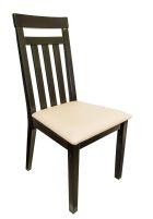 IRIS Stuhl Schwarz mit Sitzfläche in weiß