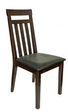 IRIS Stuhl Cappuccino mit Sitzfläche in Schwarz