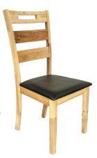 LILIUM Stuhl Natural mit Sitzfläche in Schwarz