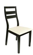 MAGNOLIA Stuhl Schwarz mit Sitzfläche in Weiß