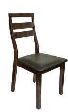 MAGNOLIA Stuhl Cappuccino mit Sitzfläche in Schwarz