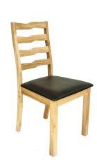 SALVIA Stuhl Neutral mit Sitzfläche in Schwarz