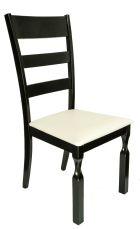 STELLA Stuhl Schwarz mit Sitzfläche in Weiß