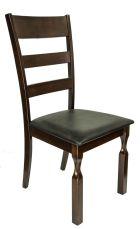 STELLA Stuhl Cappuccino mit Sitzfläche in Schwarz