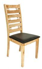 VIOLA Stuhl Natural mit Sitzfläche in Schwarz